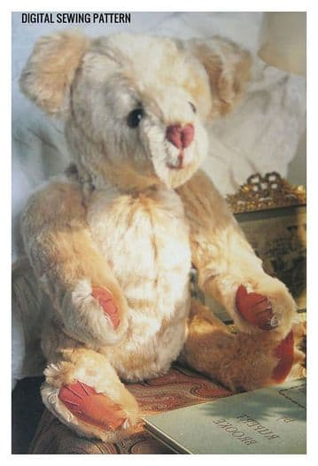PDF Vintage Chart Sewing Pattern A 16.5'' Fully Jointed Teddy Bear Stuffed Plush Soft Body Toy