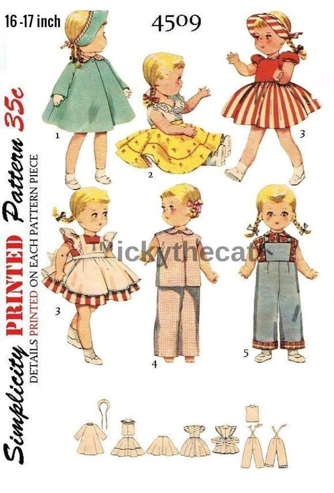4509 A Vintage Sewing Pattern to make a Large Selection of Clothes for 16 - 17