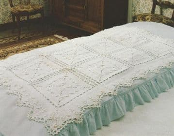 DiDigital Download PDF Vintage Crochet Pattern Granny Square Bedspread Cover Afghan