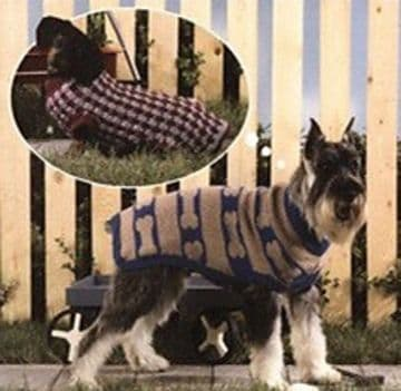 Digital Download PDF Knitting & Crochet Pattern 10 Dog Coats 12 Sizes Worsted Yarn