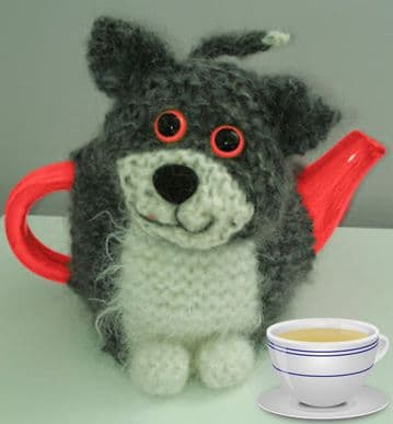 Digital Download PDF Knitting Pattern Cat Kitten Tea Cozy Cosy 1 litre Tea Pot 8 ply used double