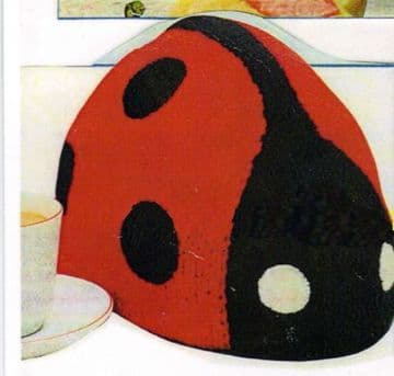 Digital Download PDF Knitting Pattern Ladybird Ladybug Tea Cosy Cozy Average Size