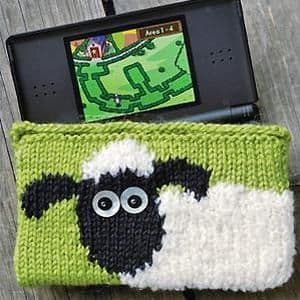 Digital Download PDF Knitting Pattern Shaun the Sheep Nintendo DS case