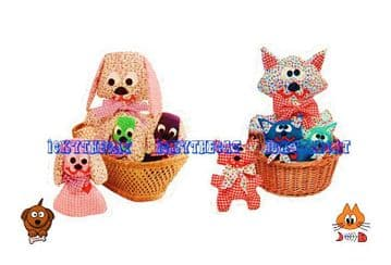 Digital Download PDF  Sewing Pattern  Dog Cat Puppy Kitten Stuffed Plush Soft Body Toys