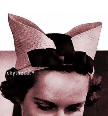 Digital Download PDF Vintage 1940s Crochet Pattern Ladies Women's 40's Fascinator Hat