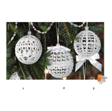 Digital Download PDF Vintage Crochet Pattern Assorted Christmas Tree Ornaments Decorations Baubles