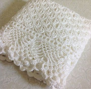 Digital Download PDF Vintage Crochet Pattern Babies Victorian Lace Afghan Blanket Christening