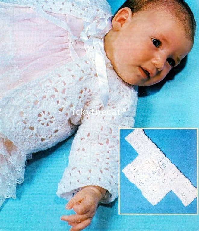 Digital Download PDF Vintage Crochet Pattern Baby's Baby Matinee Coat/Jacket 18-20''