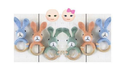 Digital Download PDF Vintage Crochet Pattern Baby's Bunny Rabbit Rattle