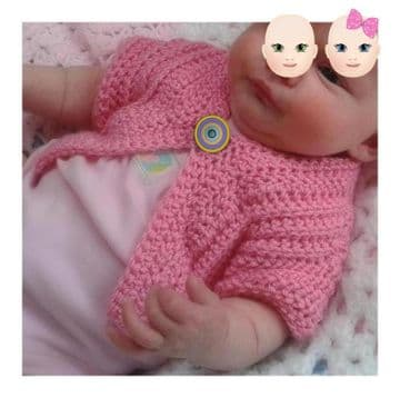 Digital Download PDF Vintage Crochet Pattern Baby's Child's Cardigan Jacket 0-3 yrs