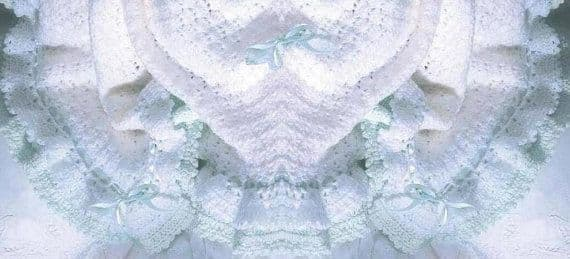 Digital Download PDF Vintage Crochet Pattern ​​​​​​​Baby's Lacy Heirloom Christening Shawl/Blanket
