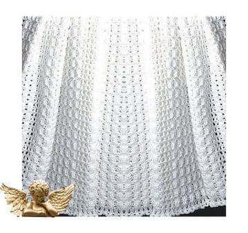 Digital Download PDF Vintage Crochet Pattern Baby's Luxury Afghan Blanket/Throw
