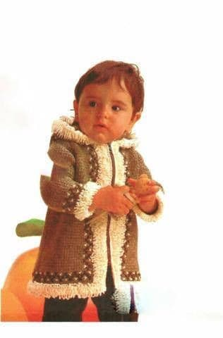 Digital Download PDF Vintage Crochet Pattern Baby's Toddler Jacket Crochet Pattern Sizes 1- 2 years