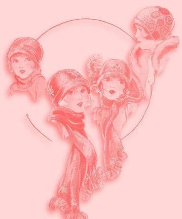 Digital Download PDF Vintage Crochet Pattern Child's Girl's Fancy Trim Cloche Hats & Scarves