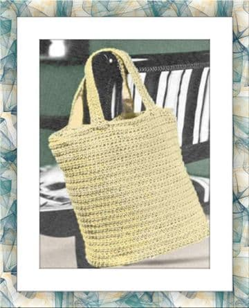 Digital Download PDF Vintage Crochet Pattern Ladies Women's EASY Shopping Bag Shoulder Bag