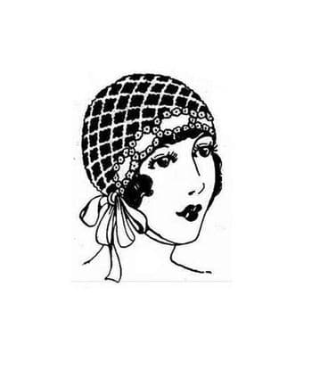 Digital Download PDF Vintage Crochet Pattern Ladies Women's Trousseau Hairdressing Cap