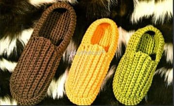 Digital Download PDF ​​​​​​​Vintage Crochet Pattern Mens Womens Ladies Childrens Slippers