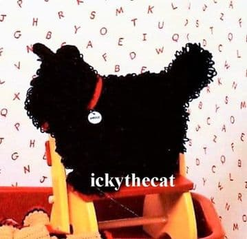 Digital Download PDF Vintage Crochet Pattern  Scottie Dog Afghan Wall Hanging Pillow Toy Rug Set