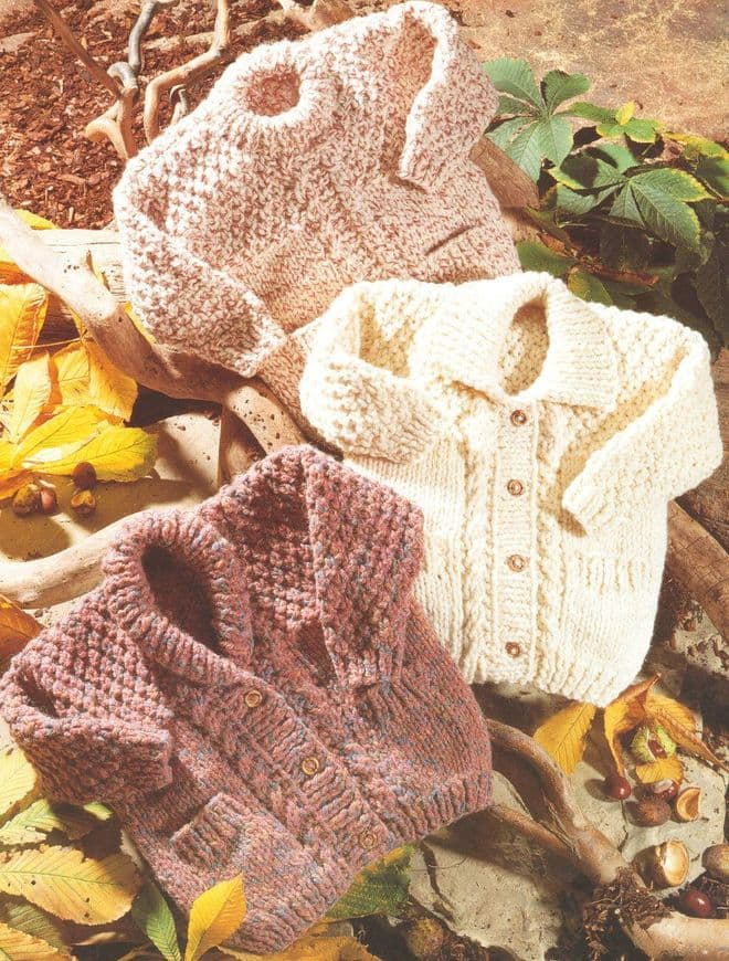 Digital Download PDF Vintage Knitting Pattern Baby 4352 Chunky Baby Childrens Jackets Tunic-Pockets