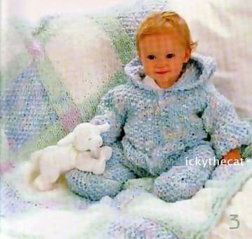Digital Download PDF Vintage Knitting Pattern Baby BOOKLET 15 PAGE JACKETS ROMPERS BUNTINGS BLANKETS