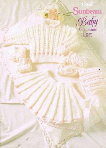 Digital Download PDF Vintage Knitting Pattern Baby Child Skirt & Sweater 4 ply 16-22''
