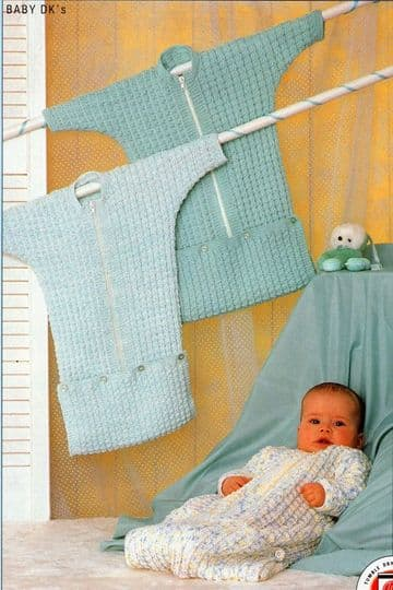 Digital Download PDF Vintage Knitting Pattern Baby's Babies Easy Zip Up Sleeping Bag/Bunting/Cocoon