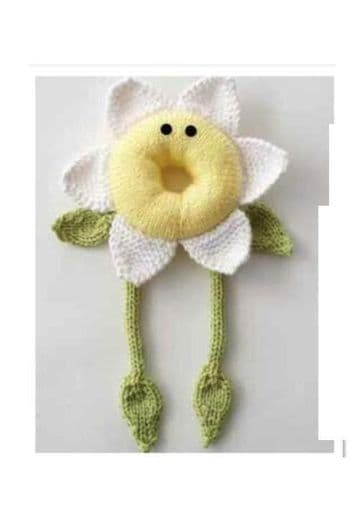 Digital Download PDF Vintage Knitting Pattern Baby's Babies Pretty Daisy Flower Comforter DK