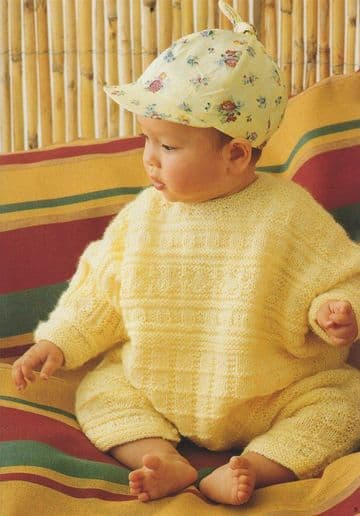 Digital Download PDF Vintage Knitting Pattern Baby's Babies Romper Suit