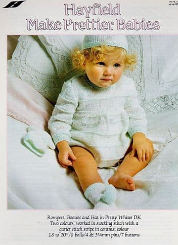 Digital Download PDF Vintage Knitting Pattern Baby's Baby Clothes Hayfield 2269