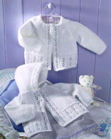 Digital Download PDF Vintage Knitting Pattern Baby's Baby Matinee Coats 16-22''