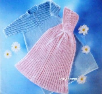 Digital Download PDF Vintage Knitting Pattern Baby's Cape & Hood ​​​​​​​Sleeping Bag