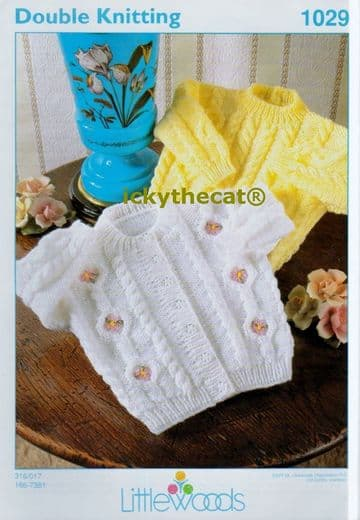 Digital Download PDF Vintage Knitting Pattern Baby's Cardigan & Sweater Chest 16-22'' DK/ 8 ply
