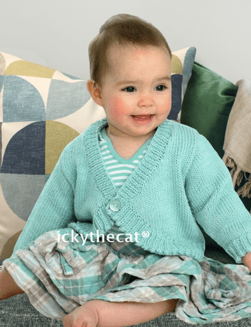 Digital Download PDF Vintage Knitting Pattern Baby's Child's Bolero Cardigan Jacket 0-6 years DK