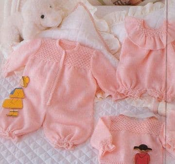 Digital Download PDF Vintage Knitting Pattern Baby's Large Layette 3-18 months