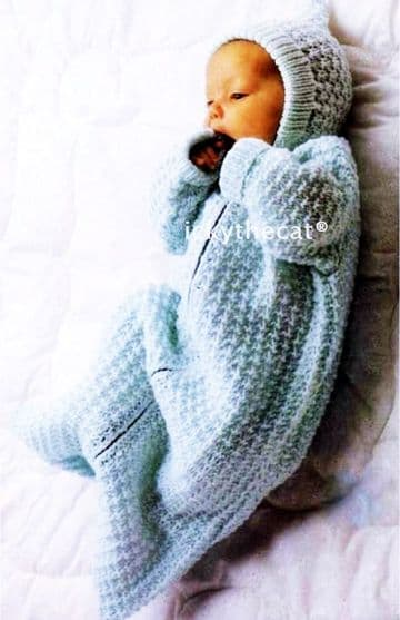 Digital Download PDF Vintage Knitting Pattern Baby Sleeping Bag Bunting/Cocoon DK 18-20'
