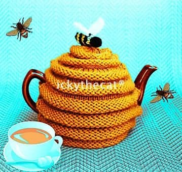 Digital Download PDF Vintage Knitting Pattern Easy Beehive Tea Cosy Cozy