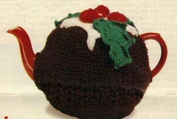 Digital Download PDF Vintage Knitting Pattern Festive Christmas Pudding Tea Cosy Cozy