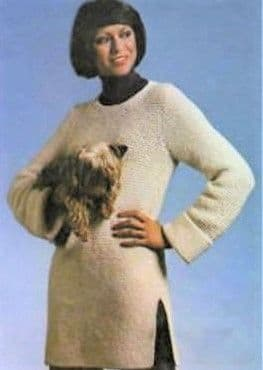 Digital Download PDF Vintage Knitting Pattern Ladies Women's Easy Aran Sweater Jumper 34,36, 38,40''