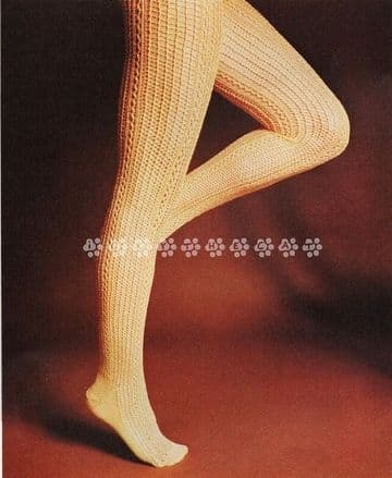 Digital Download PDF Vintage Knitting Pattern Ladies Women's Knitting Pattern Lacy Stockings 22-25cm