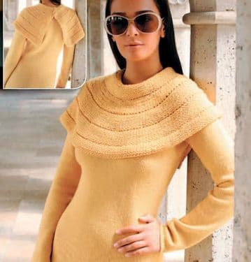 Digital Download PDF Vintage Knitting Pattern Ladies Women's Long Sleeve Sweater Jumper Pullover