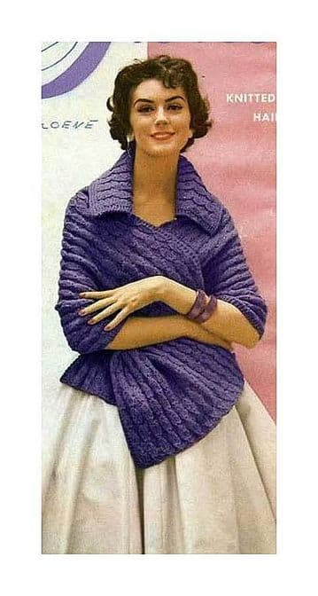 DIGITAL DOWNLOAD PDF VINTAGE KNITTING PATTERN LADIES WOMEN'S STOLE SHAWL WRAP