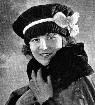 Digital Download PDF Vintage Knitting Pattern Ladies Women's Tam Hat World War One Size 5 needles