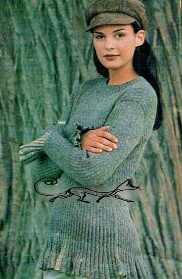 Digital Download PDF Vintage Knitting Pattern Ladies Women's Tunic Sweater Jumper Pullover 32-36""