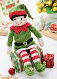 Digital Download PDF Vintage Knitting Pattern Soft Body Toy Elf Doll 30 cm Christmas Toys