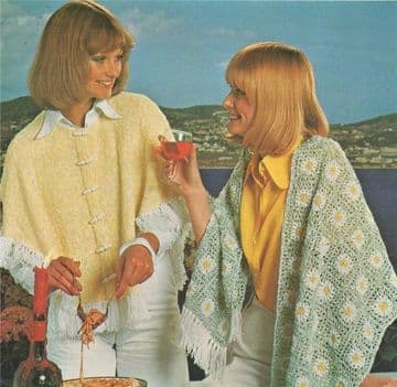 Digital Download PDF Vintage Pattern Ladies Women's Knitted Cape & Crochet Stole Pattern