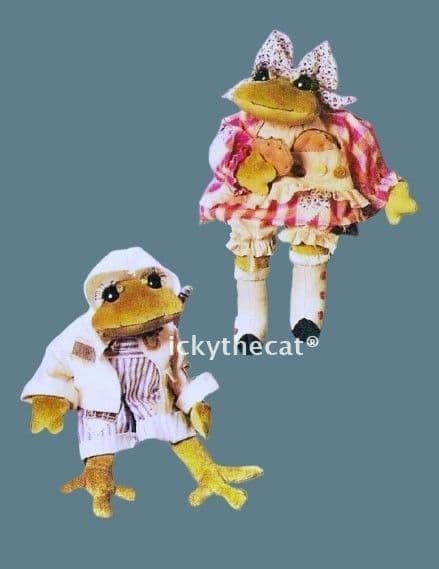 Digital PDF Download Full Size Sewing Pattern 16'' Frog/Toad & Clothes Stuffed Plush Soft Toy Animal