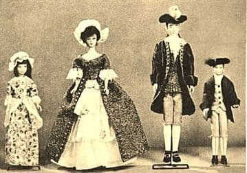 PDF Digital Download Vintage Sewing Pattern  a Selection Historical Colonial Clothing Teenage Dolls