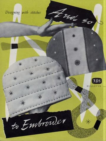 PDF 1950's Vintage Sewing Pattern And So To Embroider Designing with Stitches Small Bag Traycloth+