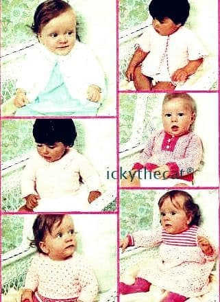 PDF DIGITAL Baby BOOKLET knitting and crochet 20 pages assorted yarns
