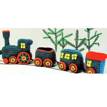 PDF Digital Dowload Vintage Crochet Pattern Stuffed Soft Body Toy Train Child Toy Toys